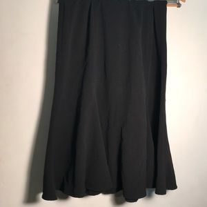 Black fit and flare skirt size 10